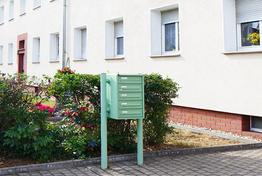 5 Fach Briefkasten-Standanlage mit Pulverbeschichtung