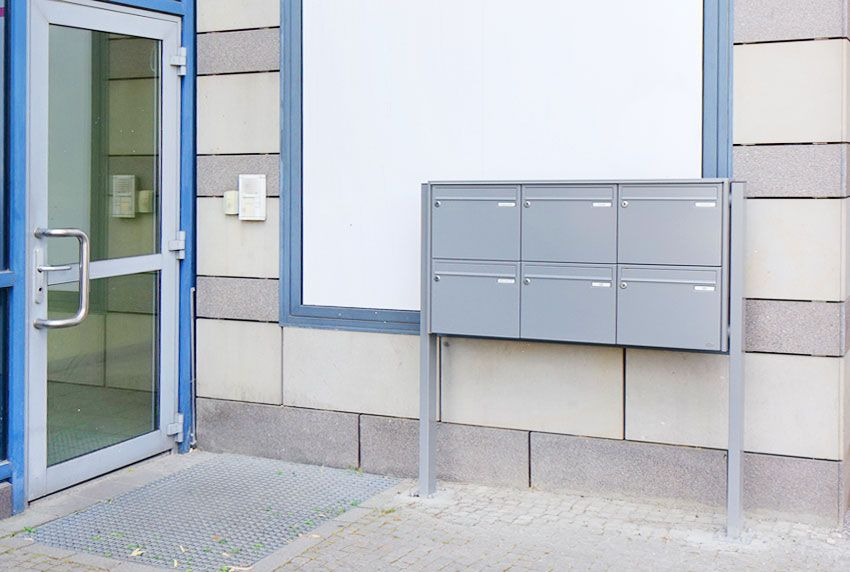 Alltagstaugliche Briefkastenanlage nach Norm in Standarddesign