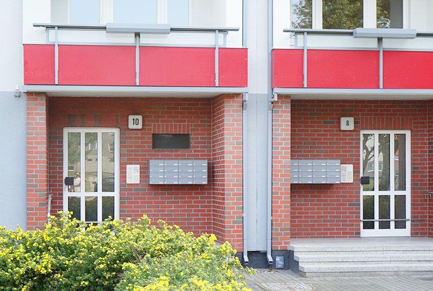 Aufputzbriefkastenanlagen aus Edelstahl oder lackiert gibt es für Ein- oder Zwei- und Mehrfamilienhäuser