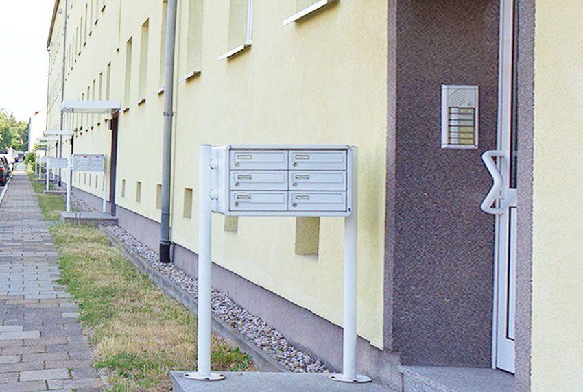 Baugleiche Serien-Briefkastenanlagen für Wohnblöcke und Reihenhaeuser