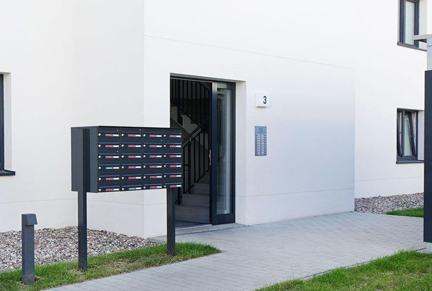 Briefkästen für Ein- oder Mehrfamilienhaus als Briefkastenanlagen
