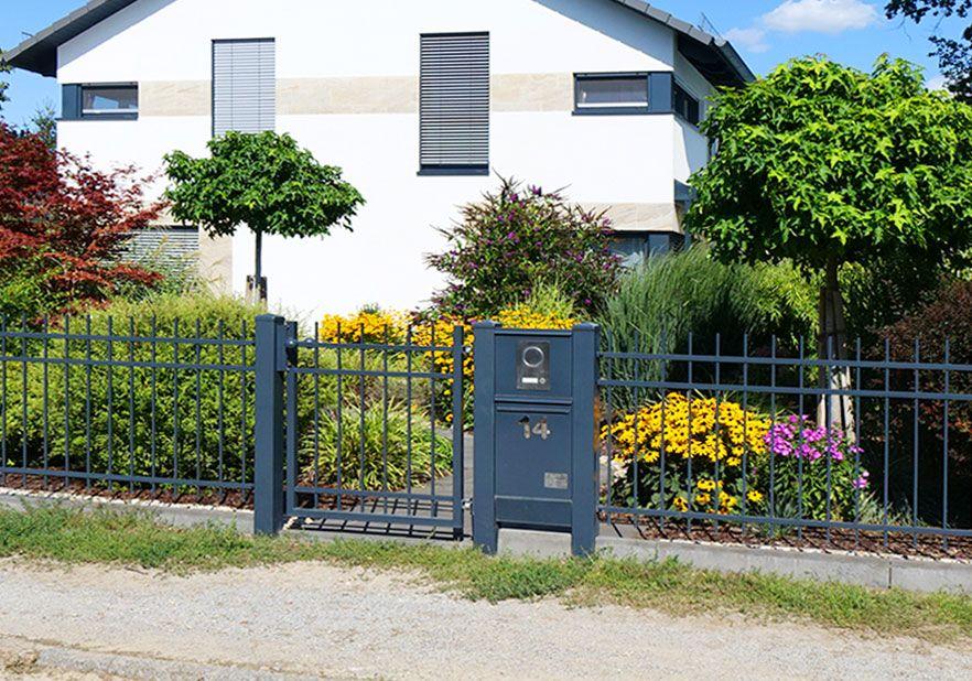 Briefkasten Aufputz oder integriert mit Sprecheinrichtung und Klingeltaster als kombinierte Anlage