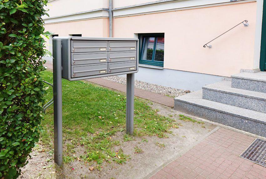 Briefkastenanlage mit Füßen zum einbetonieren sofort lieferbar