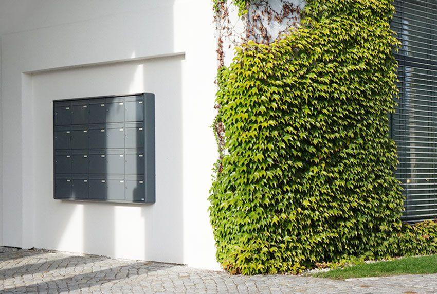 Briefkastenanlagen ab Werk ausgestattet als Komplett- Einzel- und Mehrfachanlagen