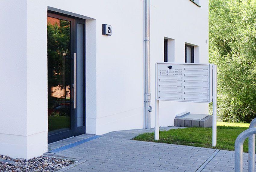 Briefkastenanlagensystem für Mehrfamilienhaus zum aufstellen