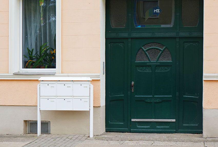 Die Briefkastenanlage als attraktiver Blickfang im Eingangsbereich