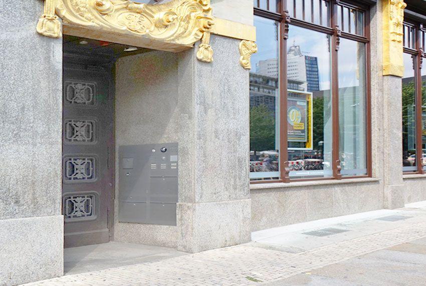 Edelste Briefkastenanlagen mit Luxusausstattung passend zum luxuriösen Umfeld