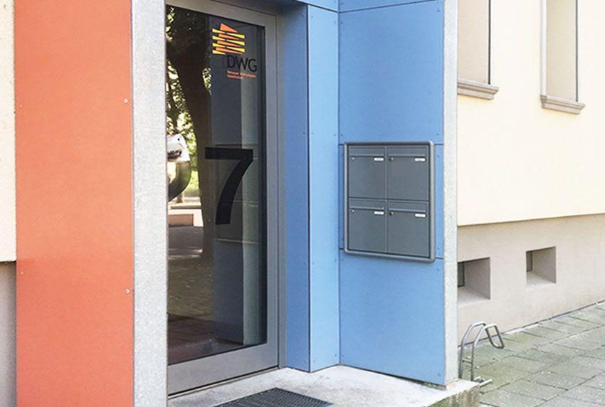 Einbau Briefkastenanlagen ohne Klingel