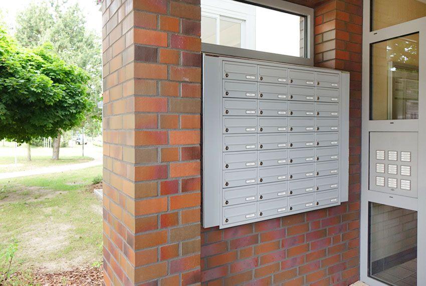 Eingepasste Briefkastenanlage nach Kundenvorgabe fertigen lassen