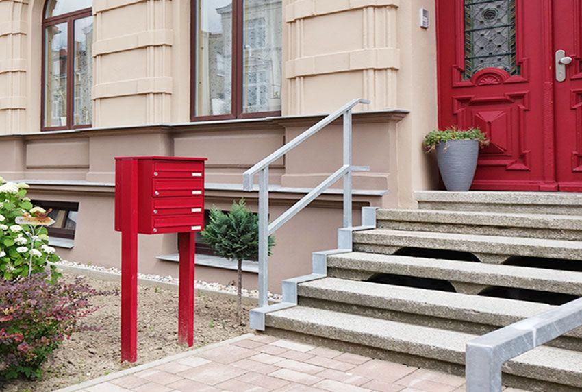 Flexibler Aufstellort für Stand-Briefkastenanlagen in Wunschfarbe bestellen