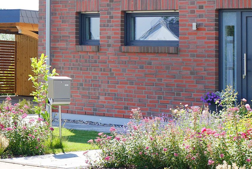Günstige Edelstahl-Einzelbriefkastenanlage für den Außenbereich