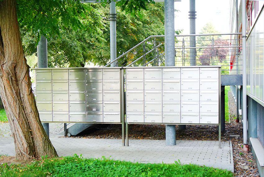 Installation hochwertiger Briefkastenanlagen leisten einen Beitrag zur Sicherung von Briefen und Paketen