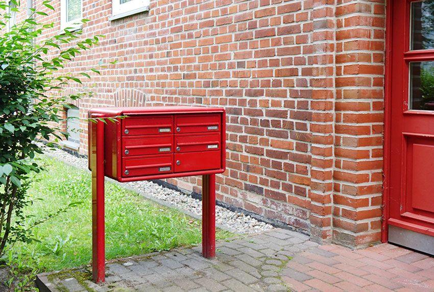 Korrosionsgeschützte Briefkastenanlage nach RAL-Wunschfarbe anfertigen