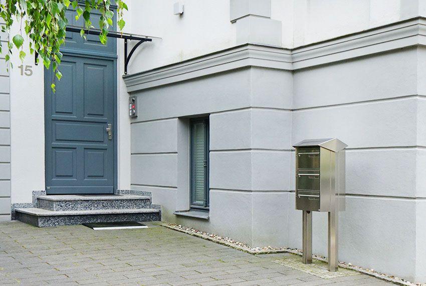 Massive Briefkastenanlagen aus Edelstahl mit langer Nutzungsdauer