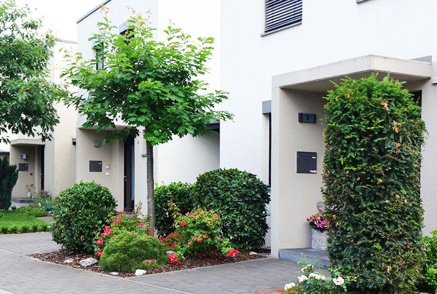 Moderner Einbaubriefkasten für den Hauseingangsbereich