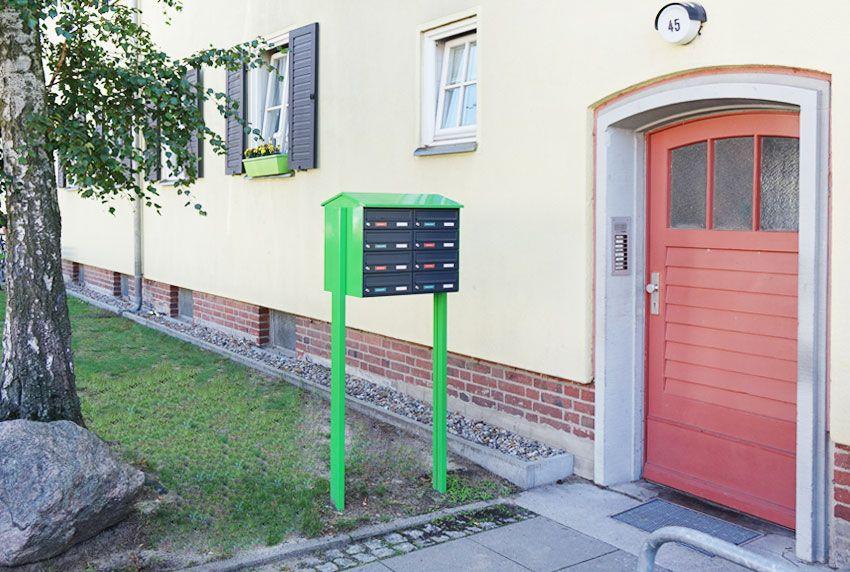 Platzangebot und Postvolumen entscheiden über den geeigneten Kastentypen der Briefkastenanlagen