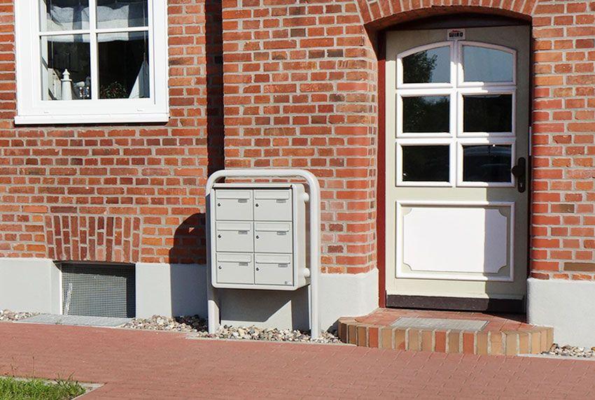Platzsparende Briefkastenanlage in kompakter Ausführung
