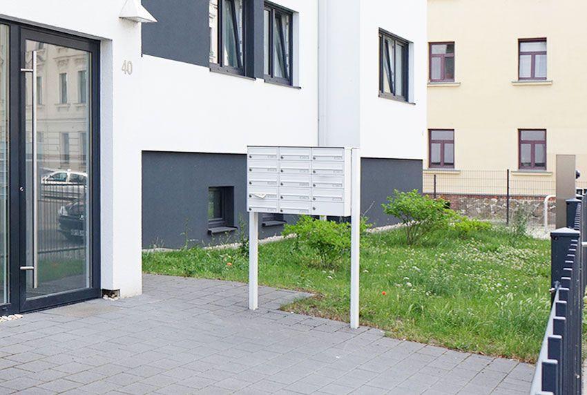 Preiswerte Briefkastenanlage mit ungerader Nutzerzahl und Servicekasten