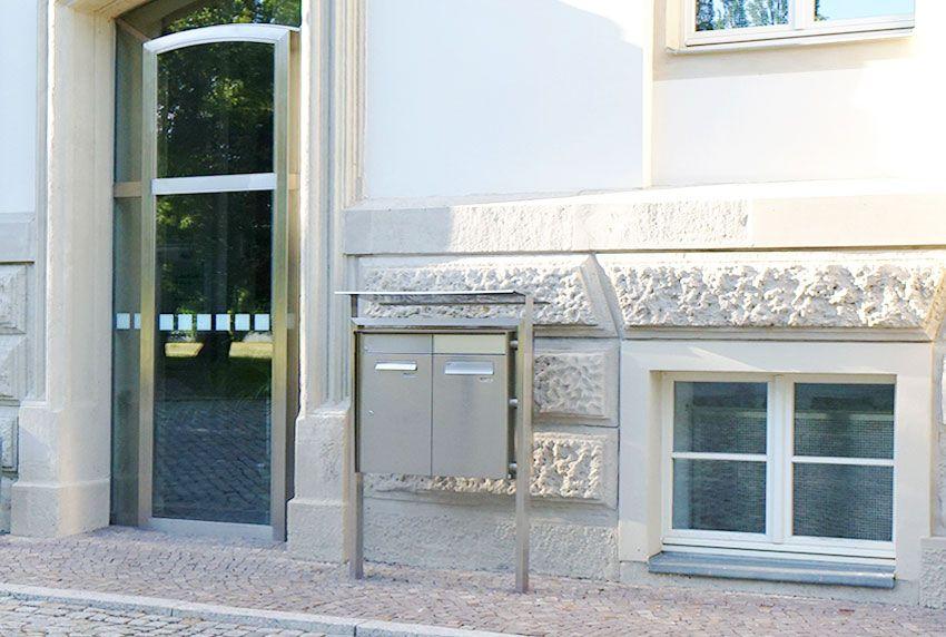 Premium Edelstahl-Briefkastenanlage in bester Qualität als Spezialanfertigung