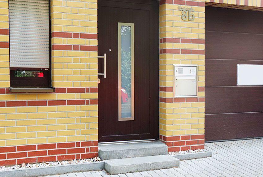 Schlichte Briefkastenanlage für Einfamilienhaus