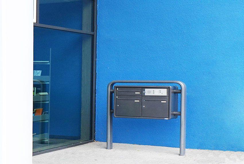 Stand-Briefkastenanlage mit großer Einzelkästentiefe