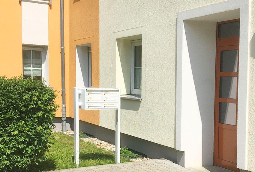 Standardisierte Standbriefkastenanlage für Mietshäuser