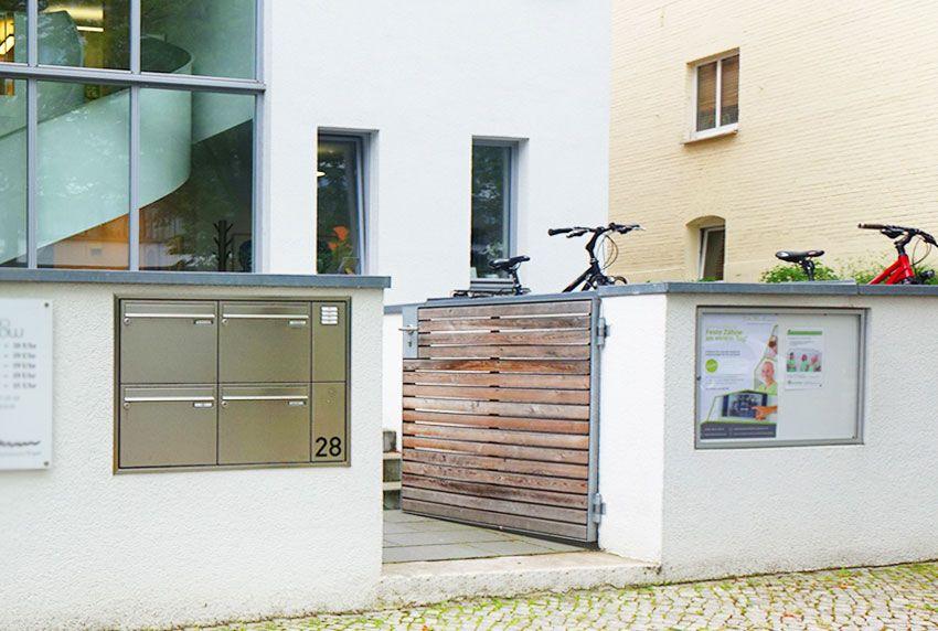 Vierer Briefkastenanlage Unterputz ohne Sprechanlage