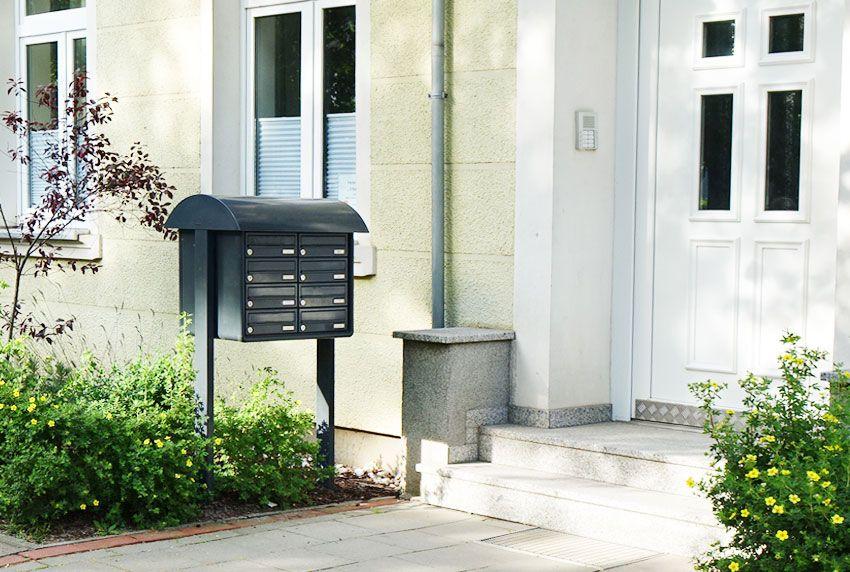 Zweckmäßige Briefkastenanlage zum selber zusammen schrauben