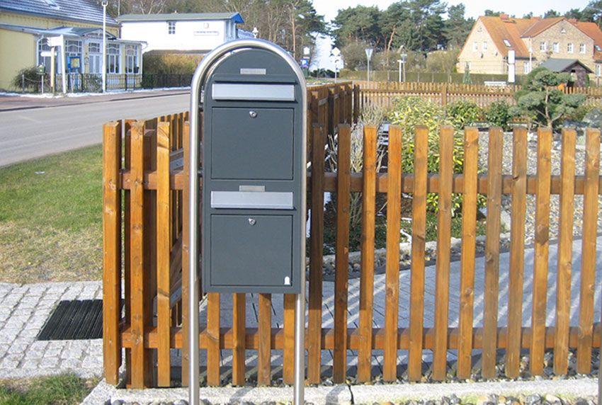 Zweier Briefkastenanlage freistehend mit viel Platz